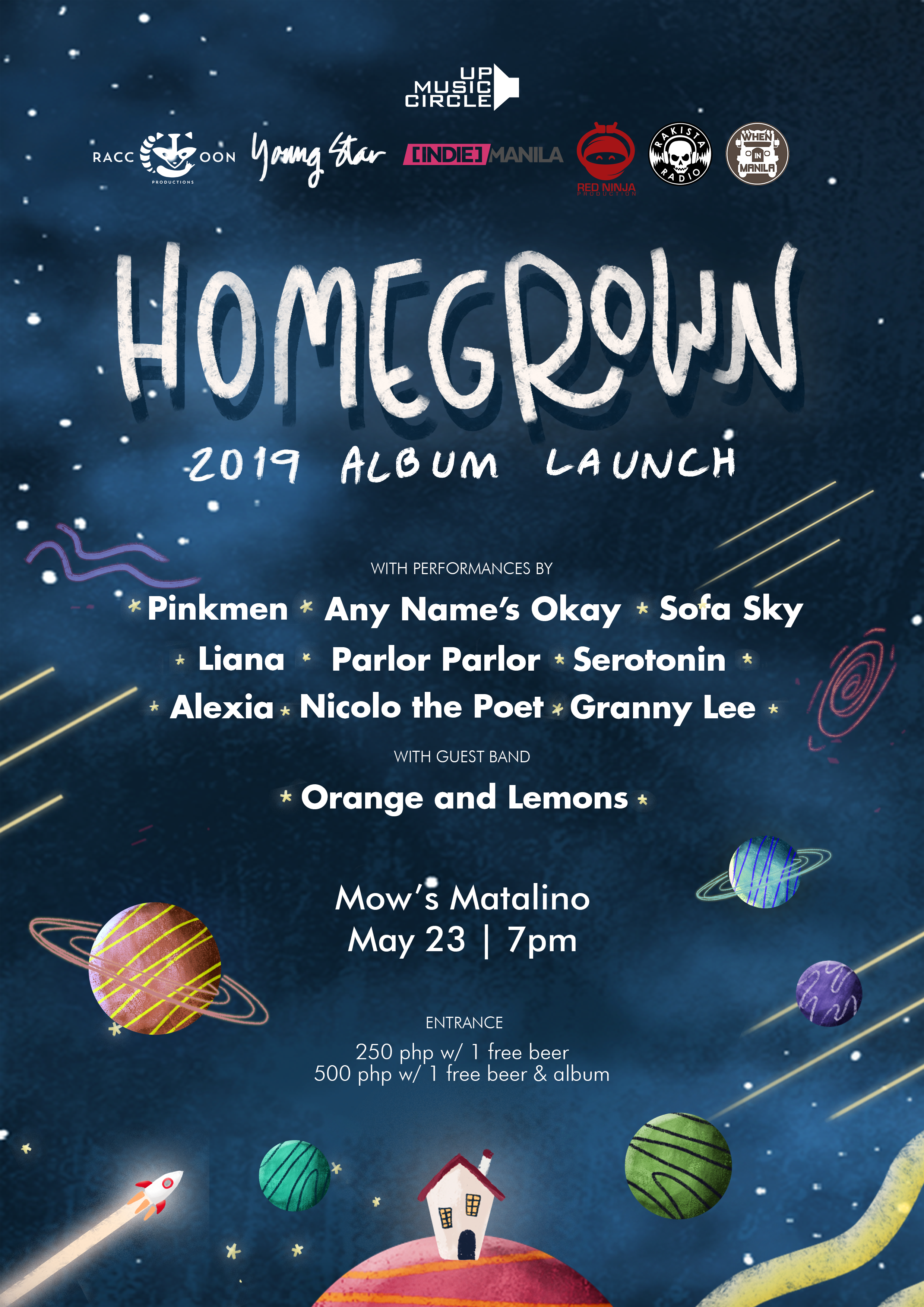 The UP Music Circle 'Homegrown 2019' Album Launch