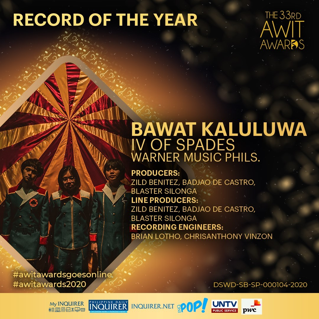 Warner Music Philippines Conquers the 33rd Awit Awards