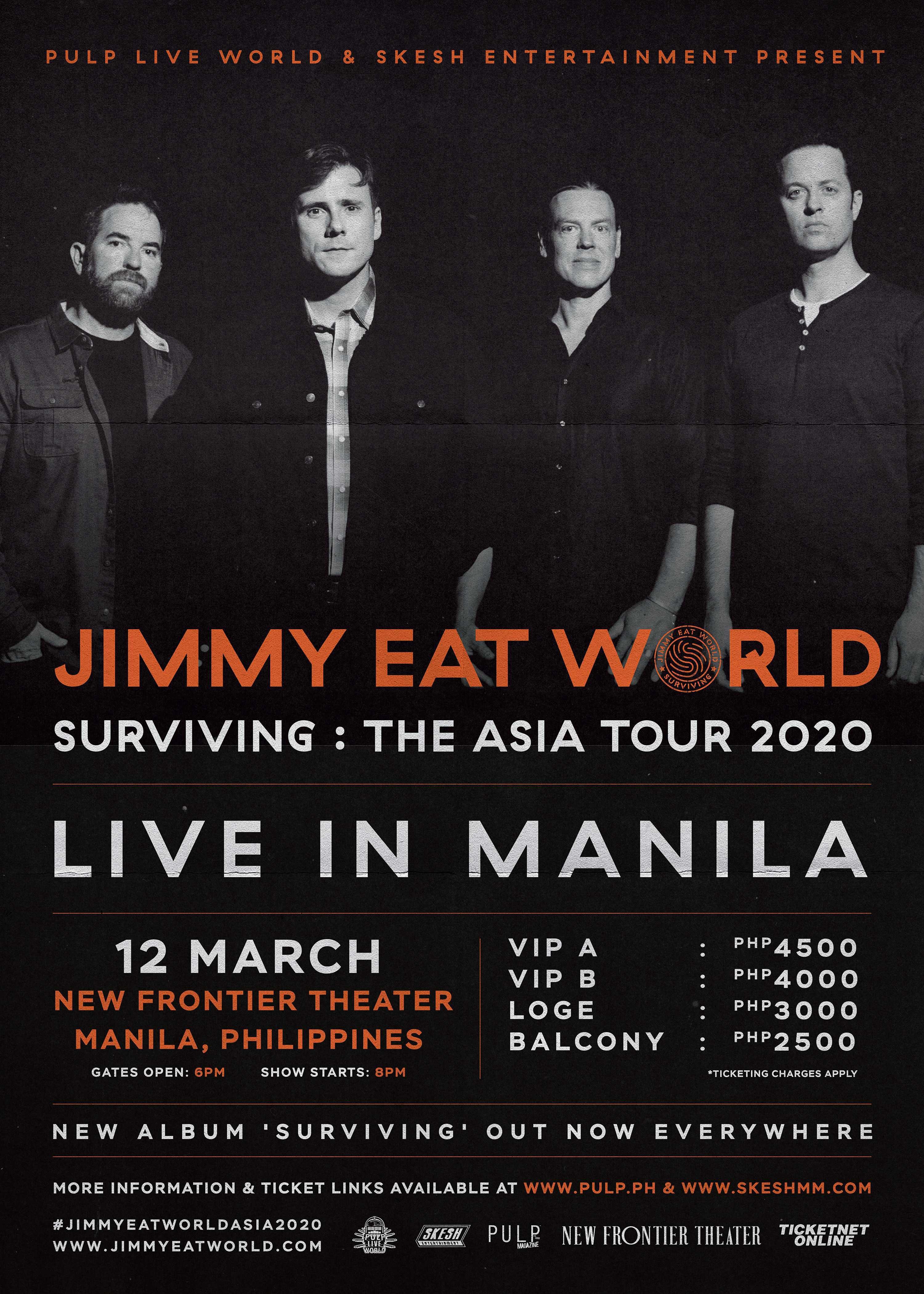 JIMMY EAT WORLD LIVE IN MANILA — SURVIVING: THE ASIA TOUR 2020