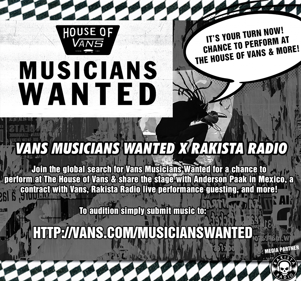 ATTENTION ARTISTS: Are You The Next South East Asian Representative For Vans Musicians Wanted?